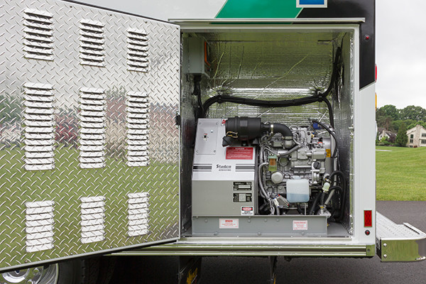 2016 Braun Liberty - Type I ambulance - generator compartment