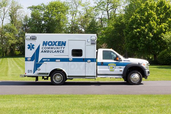 2016 Braun Express Plus - Type I ambulance - passenger side