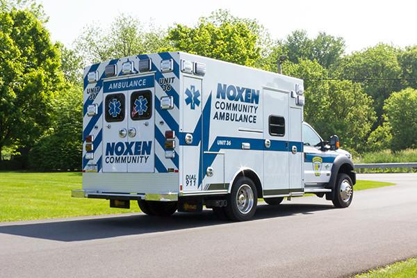 2016 Braun Express Plus - Type I ambulance - passenger rear