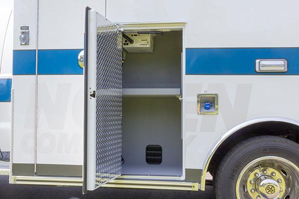 2016 Braun Express Plus - Type I ambulance - module compartment driver side