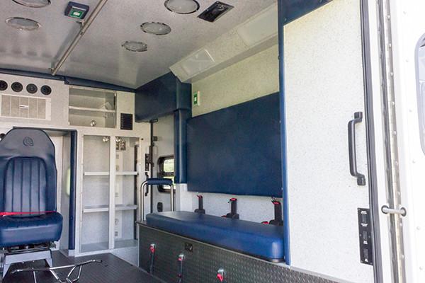 2016 Braun Express Plus - Type I ambulance - module interior passenger side
