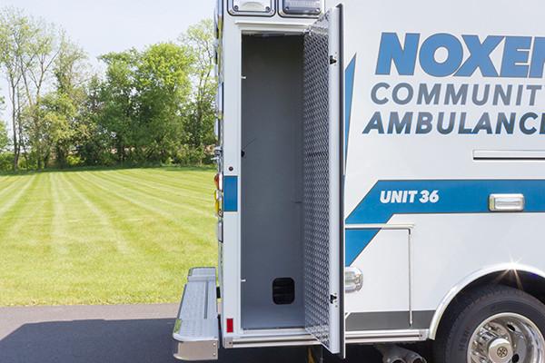 2016 Braun Express Plus - Type I ambulance - passenger rear module compartment