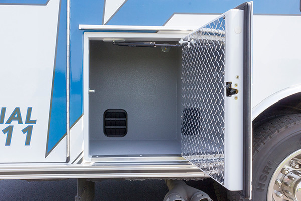 2016 Braun Express Plus - Type I ambulance - lower exterior compartment