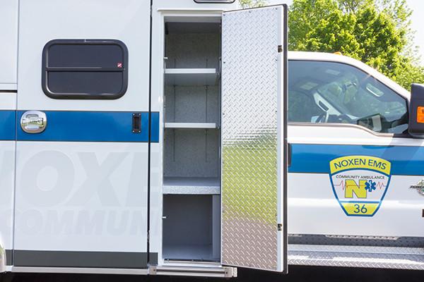 2016 Braun Express Plus - Type I ambulance - restocking cabinet