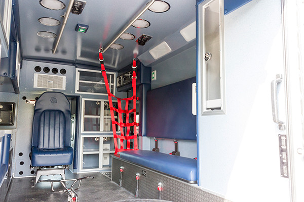 2016 Braun Chief XL - Type I ambulance - module interior passenger side