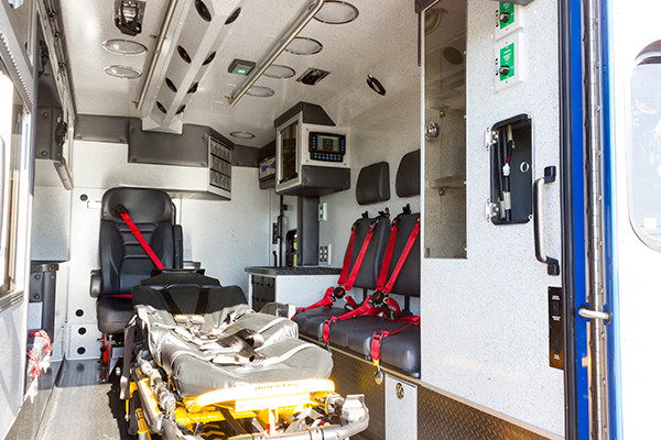 2016 Braun custom ambulance - Chief XL Type III ambulance - module interior passenger side