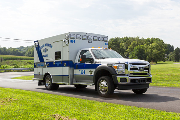 2016 Braun Express Plus - Type I ambulance - passenger front