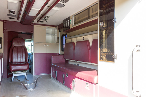 used ambulance for sale - 2007 PL Custom Type III ambulance - module interior passenger side