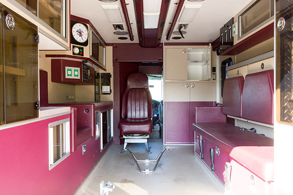 used ambulance for sale - 2007 PL Custom Type III ambulance - module interior overview