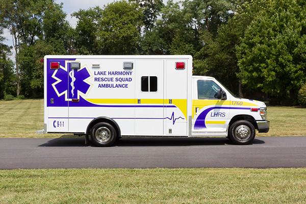 2016 ambulance remount - Type III ambulance - passenger side