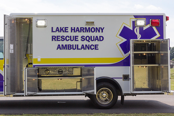 2016 ambulance remount - Type III ambulance - driver side compartments