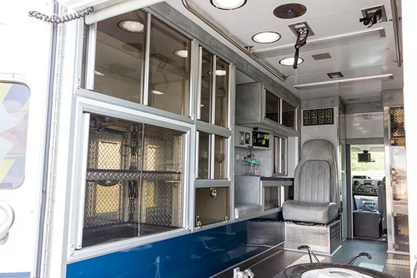 2016 ambulance remount - Type III ambulance - module interior driver side