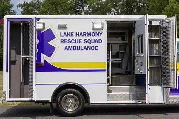 2016 ambulance remount - Type III ambulance - passenger side compartments