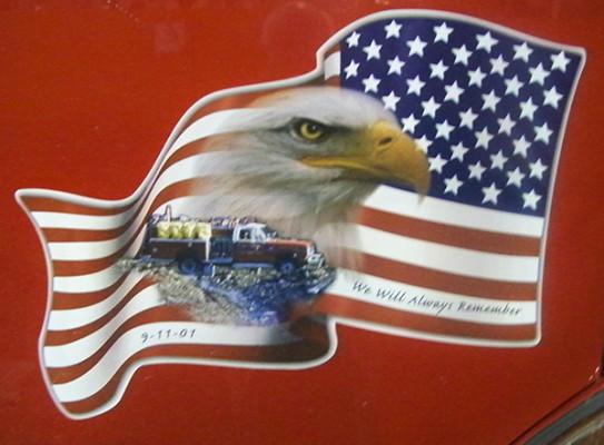 Pierce Contender pumper - fire engine - eagle emblem on cab