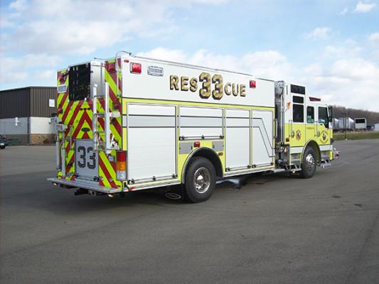 2009 Pierce Velocity - custom pumper fire engine - passenger rear