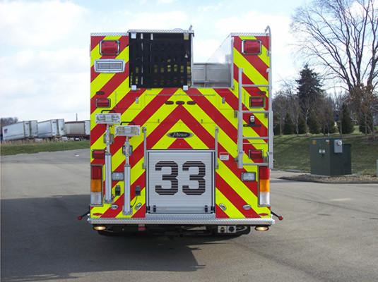 2009 Pierce Velocity - custom pumper fire engine - rear