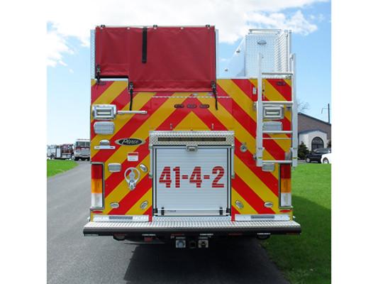 2010 Pierce Quantum PUC pumper - custom fire engine - rear