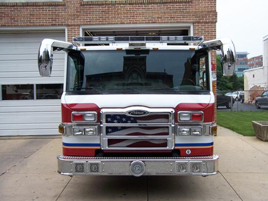 fire engine - Pierce Velocity pumper - front
