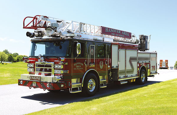 75' HAL Heavy Duty Aluminum Aerial Ladder Truck