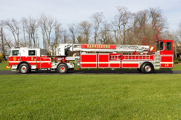 costars 100 foot steel tractor drawn aerial ladder fire truck for