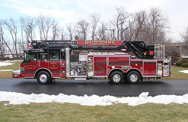 105' Heavy Duty Steel Aerial Ladder Truck