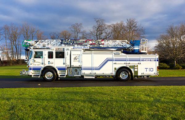 75' Heavy Duty Aluminum Aerial Ladder Truck