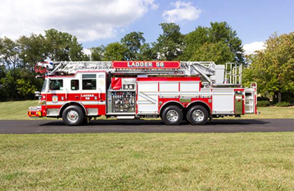 75' Heavy Duty Steel Aerial Ladder Truck