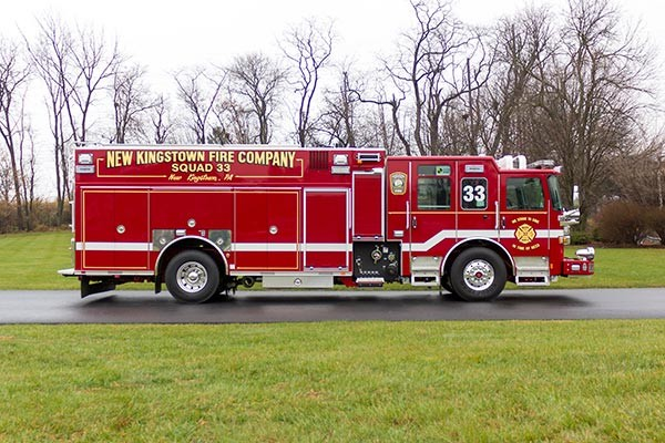 2016 Pierce Enforcer PUC rescue pumper - new fire engine sales - passenger side