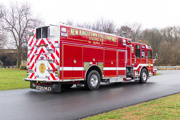 2016 Pierce Enforcer PUC rescue pumper - new fire engine sales - passenger rear