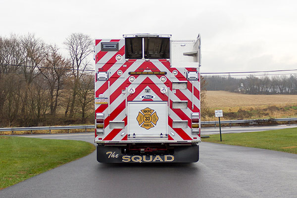 2016 Pierce Enforcer PUC rescue pumper - new fire engine sales - rear