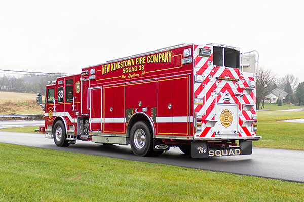 2016 Pierce Enforcer PUC rescue pumper - new fire engine sales - driver rear