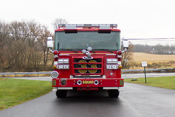 2016 Pierce Enforcer PUC rescue pumper - new fire engine sales - front