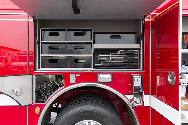 2016 Pierce Enforcer PUC rescue pumper - new fire engine sales - custom trays