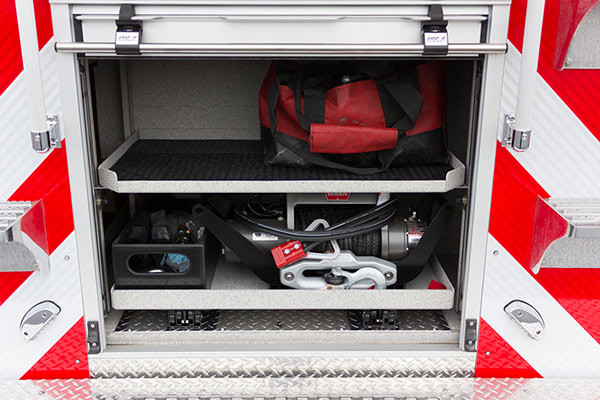 2016 Pierce Enforcer PUC rescue pumper - new fire engine sales - slide out tool trays
