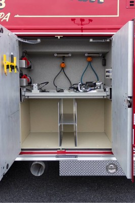 2016 Pierce Enforcer PUC rescue pumper - new fire engine sales - custom reels compartment