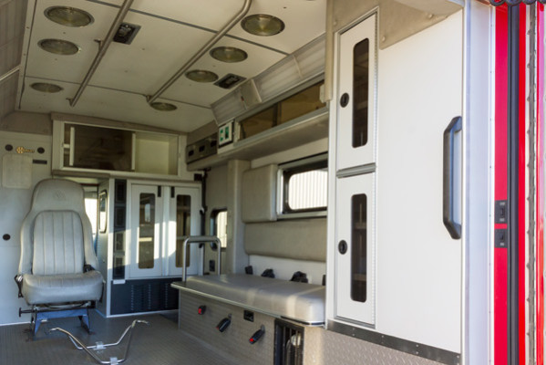 2005 used Braun Type III ambulance for sale - Glick Fire Equipment - module interior driver side