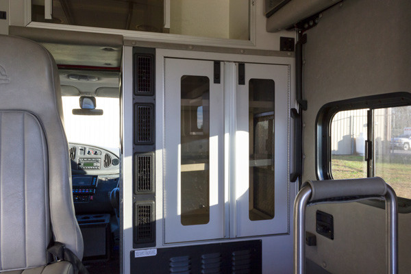 2005 used Braun Type III ambulance for sale - Glick Fire Equipment - module interior front cabinets