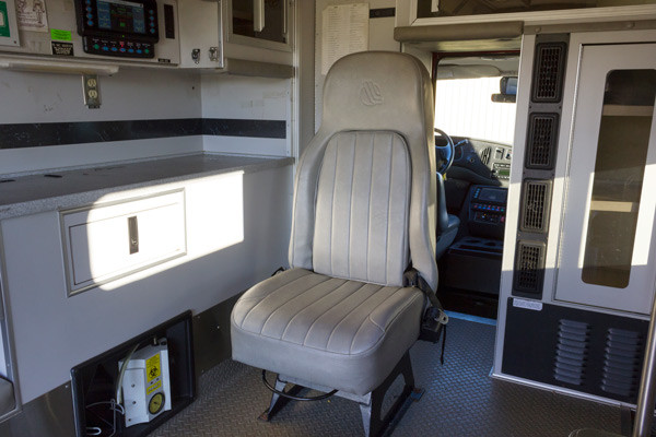 2005 used Braun Type III ambulance for sale - Glick Fire Equipment - module interior medic seat