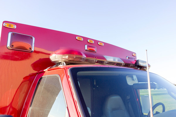 2005 used Braun Type III ambulance for sale - Glick Fire Equipment - lightbar