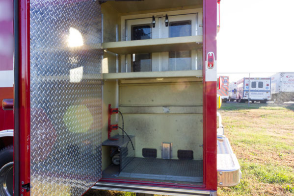 2005 used Braun Type III ambulance for sale - Glick Fire Equipment - exterior driver side cabinet