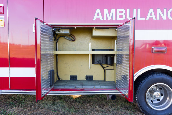 2005 used Braun Type III ambulance for sale - Glick Fire Equipment - exterior passenger cabinet