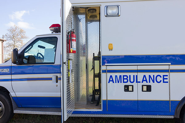 used Type III ambulance for sale - 2004 AEV - module front compartment oxygen storage
