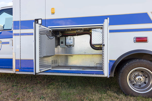 used Type III ambulance for sale - 2004 AEV - module driver side exterior compartment