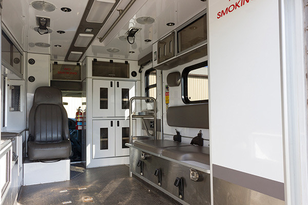 used Type III ambulance for sale - 2004 AEV - module interior passenger side