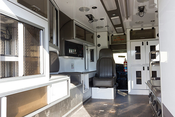 used Type III ambulance for sale - 2004 AEV - module interior driver side