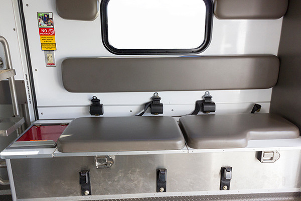 used Type III ambulance for sale - 2004 AEV - module interior bench