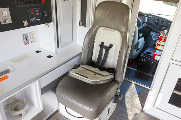used Type III ambulance for sale - 2004 AEV - child safety seat