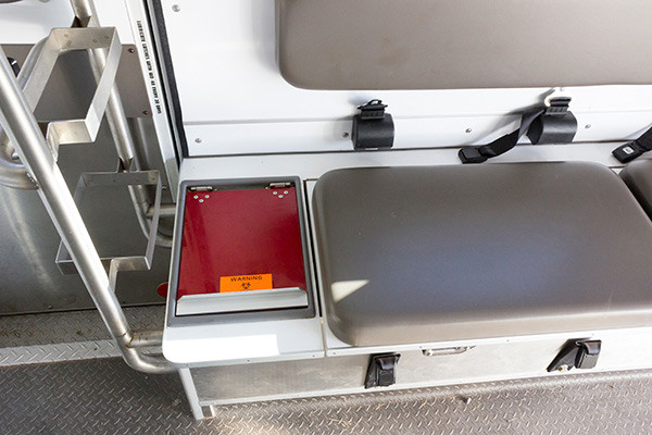 used Type III ambulance for sale - 2004 AEV - module interior bench seat
