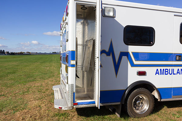 used Type III ambulance for sale - 2004 AEV - module rear storage compartment