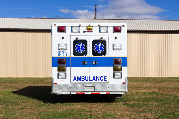 used Type III ambulance for sale - 2004 AEV - rear